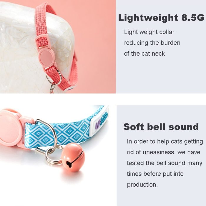Cat Collars with Bell Cute Collars (2Pcs.)