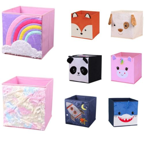 Cube Storage Bin Cartoon Designs