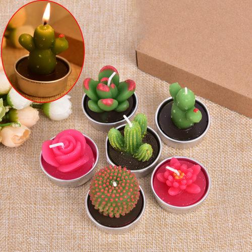 Cactus Candle Mini Home Décor