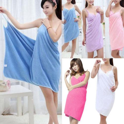 Bath Towel Dress Women's Robe