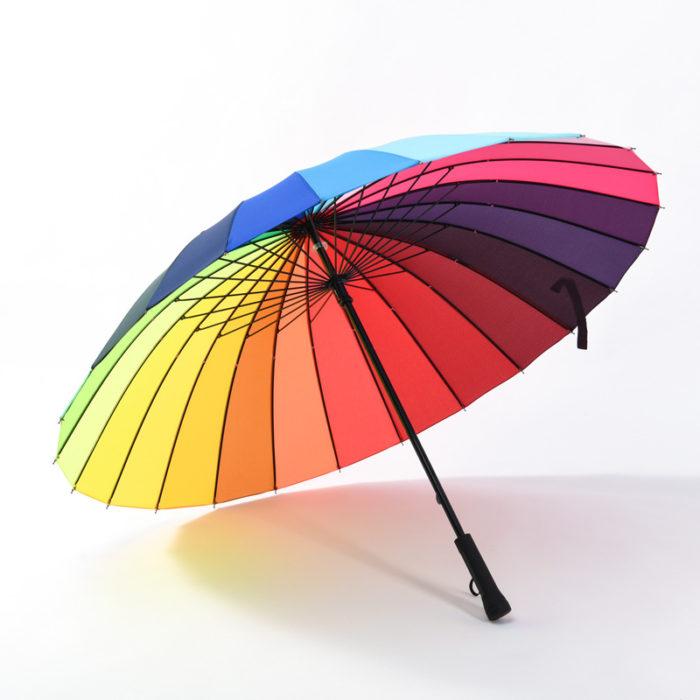 Rainbow Umbrella Long-Handle Umbrella