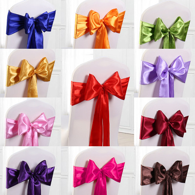 Chair Bow Satin Fabric DIY Decor