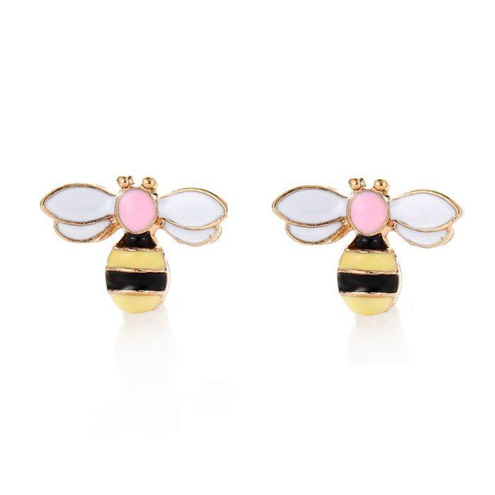 Bumble Bee Earrings Stud Accessory