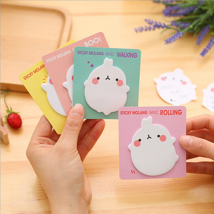 Cute Post It Notes Molang Design Memo Pad