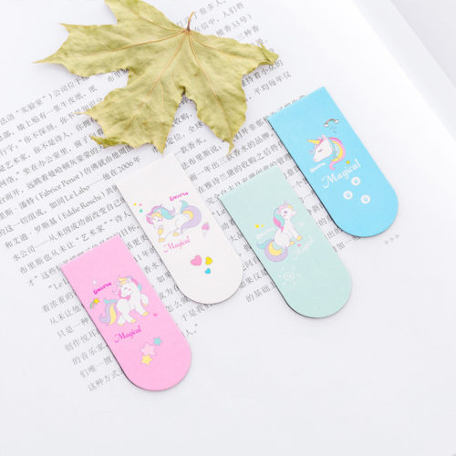Unicorn Bookmarks Magnetic Bookmarks (4Pcs.)