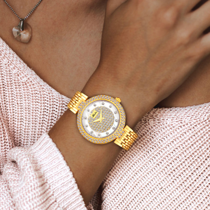 Luxury Watch For Women With Rhinestone