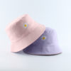 Ladies Bucket Hat With Daisy Embroidery