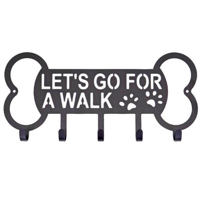 Dog Leash Holder Wall-Mounted Rack