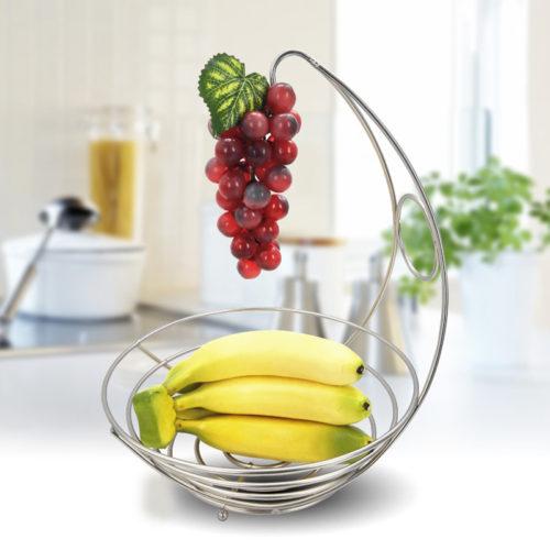 Metal Fruit Bowl with Fruit Hanger