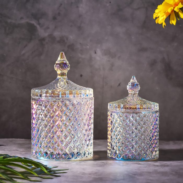 Glass Candy Jar with Lid