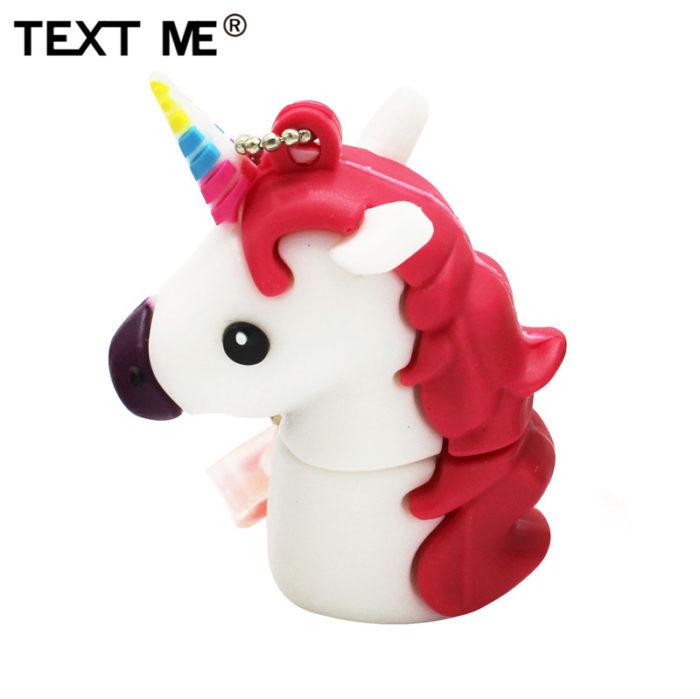 Cute Flash Drive Creative Unicorn Design USB