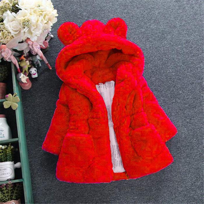 Baby Girl Fur Coat Winter Wear