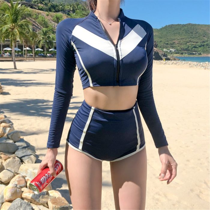 Crop Rash Guard Sexy Beach Wear