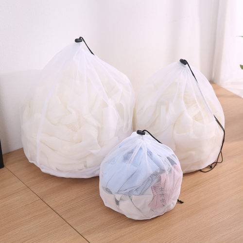 Drawstring Laundry Bag Mesh Bag