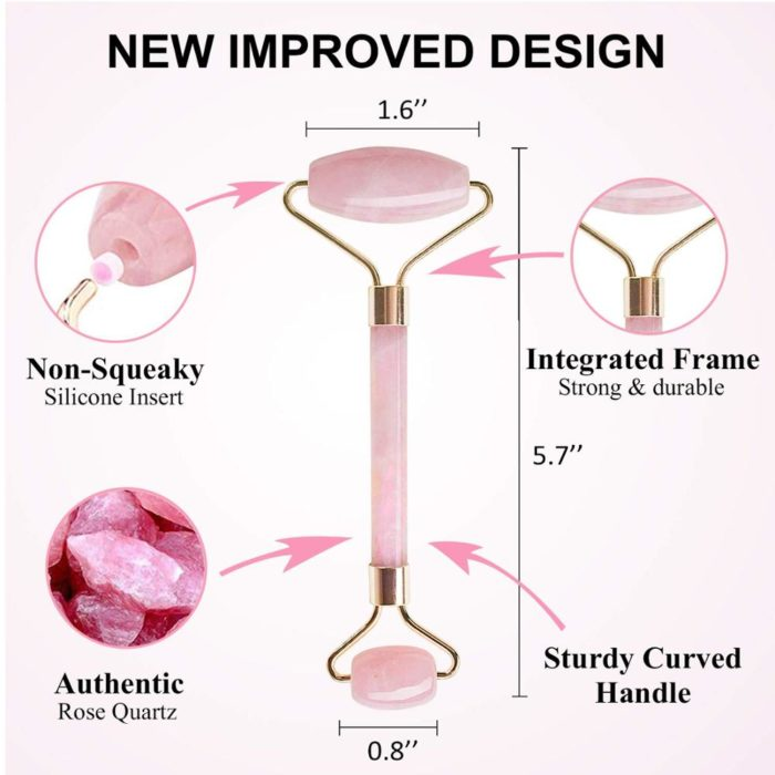 Rose Quartz Face Roller Anti-Wrinkle Tool