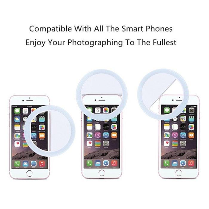 Mini Ring Light Portable Phone Lamp