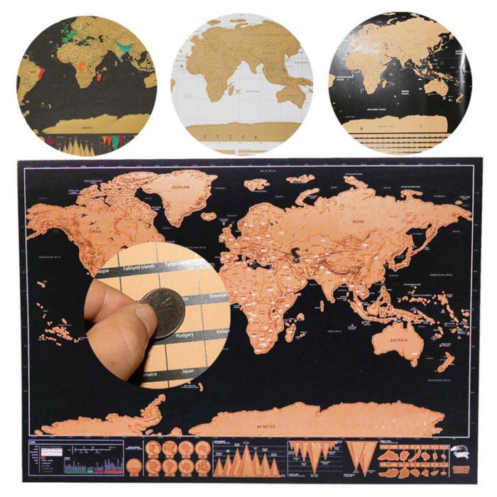 Scratch Map World Travel Decor