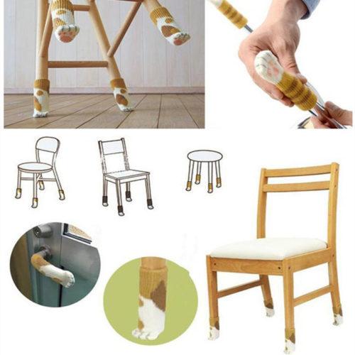Chair Leg Socks Paw Sleeve Cover
