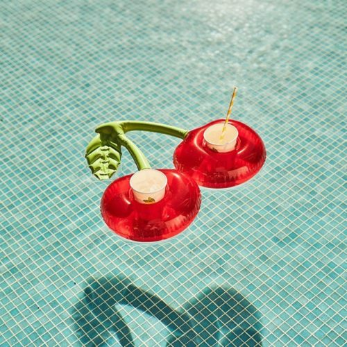 Pool Drink Holder Cherry Design