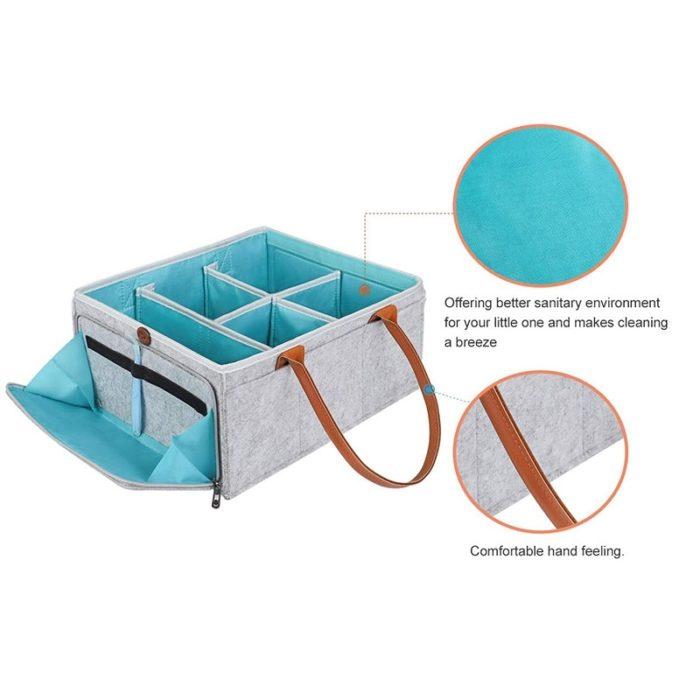 Felt Storage Basket Fabric Organizer