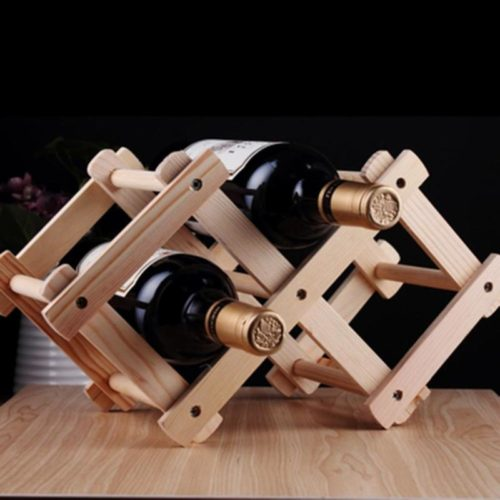 Wine Display Rack Foldable Organizer