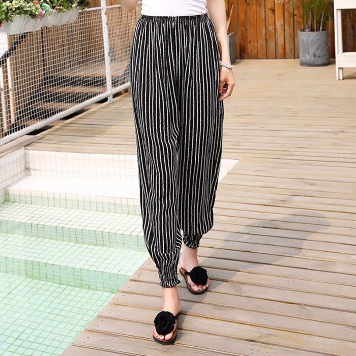 Ladies Lounge Pants Printed Summer Pants