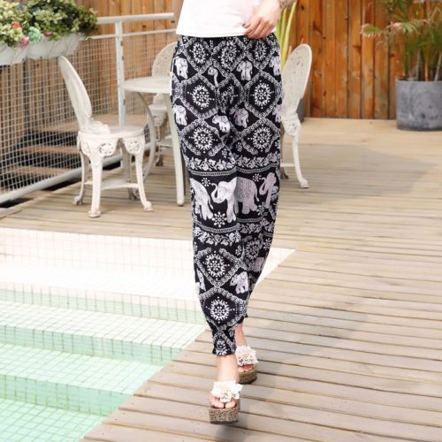 Ladies Lounge Pants Printed Summer Pants