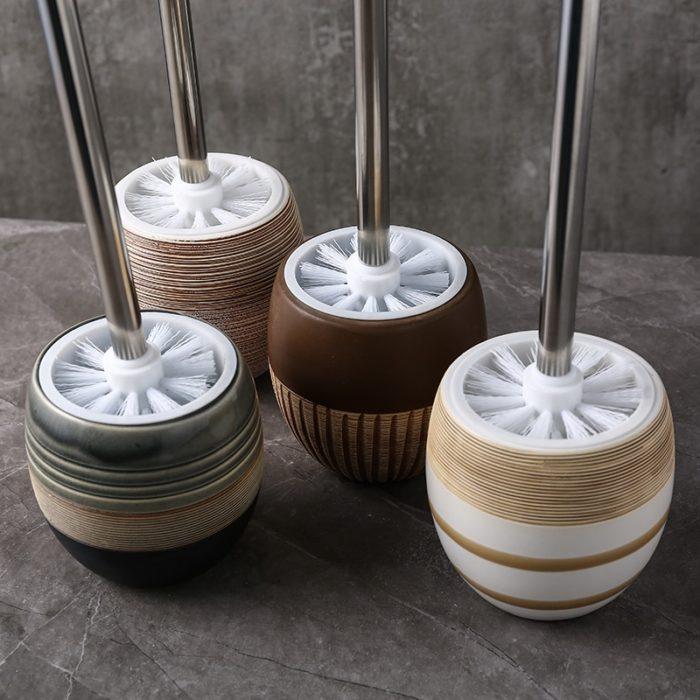 Ceramic Toilet Brush Holder with BrushSet