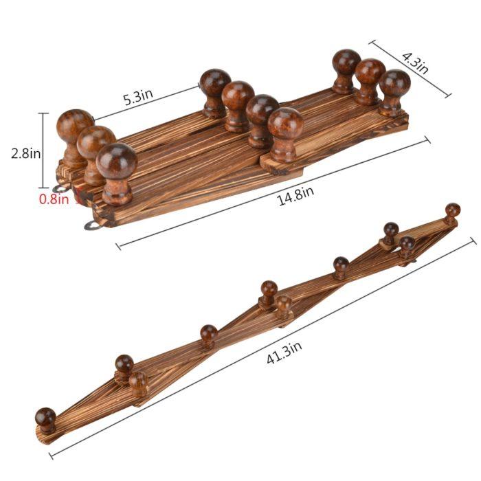 Wall Coat Rack 10-Hook Hanger
