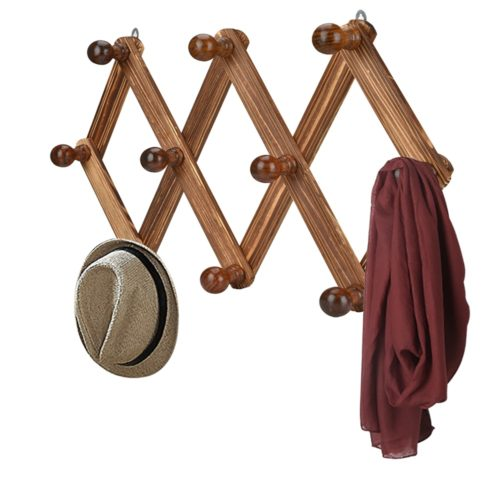 Wall Coat Rack 10-Hook Hanger