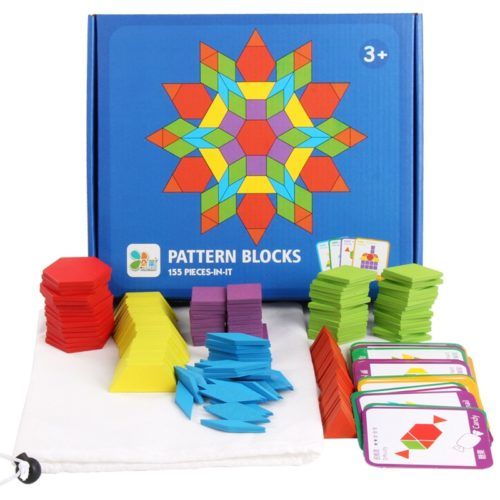 Pattern Blocks 155PCs Shape Puzzles