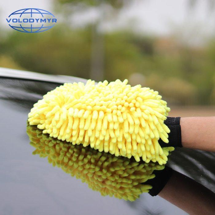 Car Wash Glove Chenille Car Wash Mitt