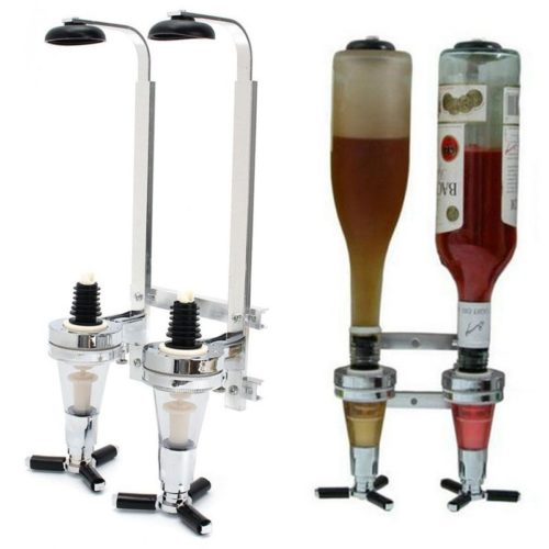 Liquor Bottle Dispenser 2-Bottle Holder