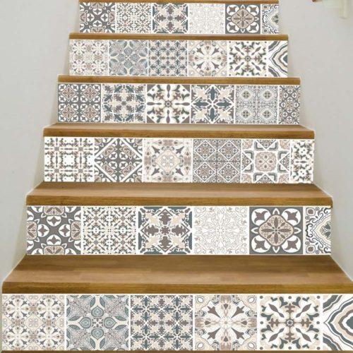 Staircase Stickers Mandala Decal (6pcs)