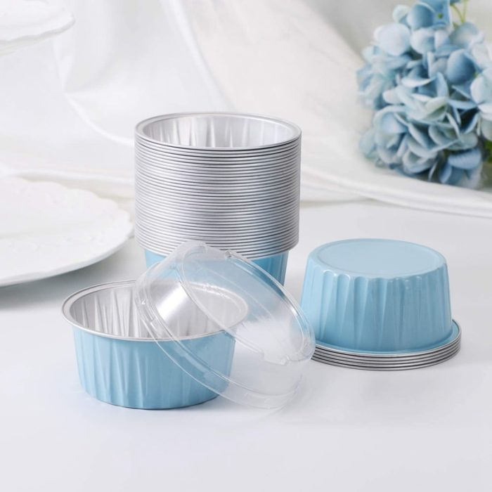 Disposable Baking Pans with Cover (100Pcs)