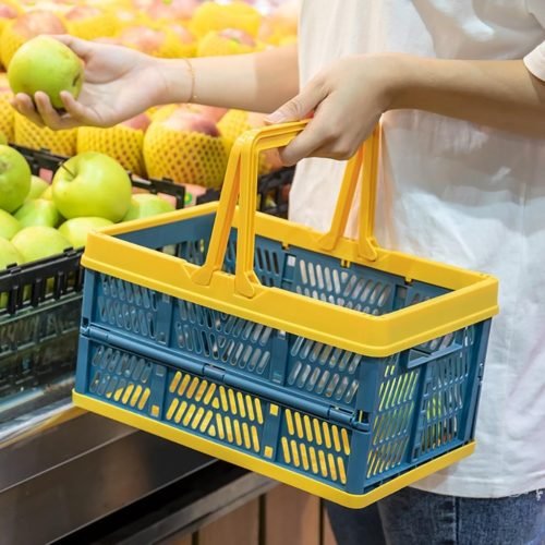 Plastic Folding Basket with Handle