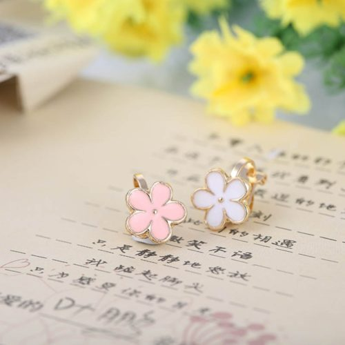 Kids Clip On Earrings Cute Flower Design