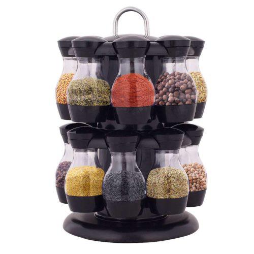 Revolving Spice Rack Condiments Organizer
