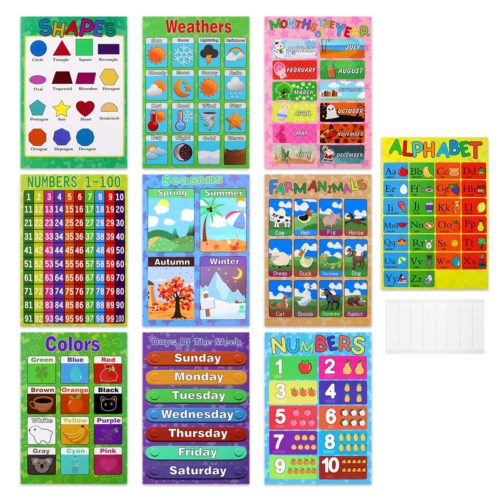 Educational Preschool Posters (10Pcs)