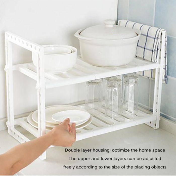 Under Sink Organizer Two-Layer Rack