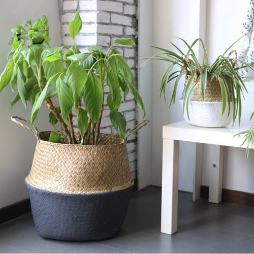 Rattan Plant Pot Straw Weave Basket