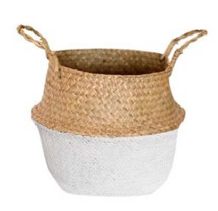 Rattan Plant Pot Straw Weave Basket