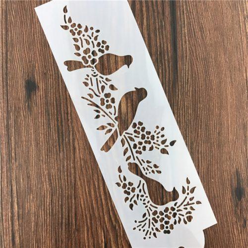 Airbrush Stencil Bird Design Stencil