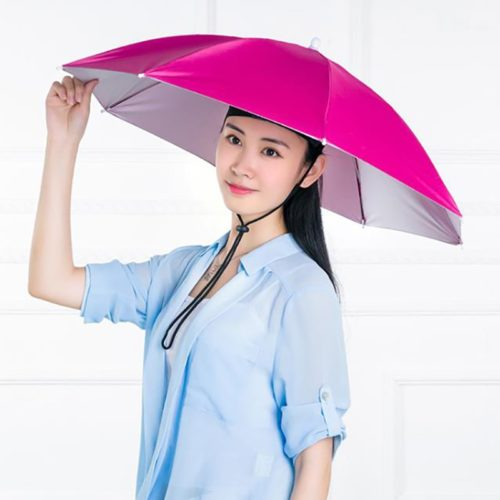 Umbrella Cap Hands-Free Umbrella Hat