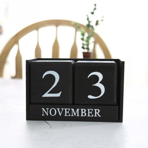 Wooden Perpetual Calendar for Desk