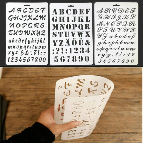 Alphabet Stencil DIY Art and Crafts