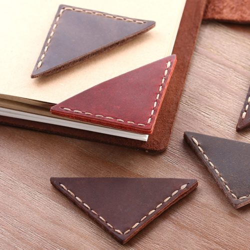 Corner Bookmark Leather Page Mark