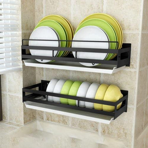 Wall Mounted Plate Rack Storage
