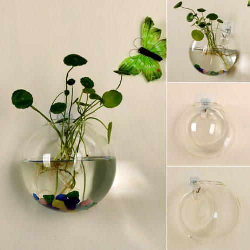 Glass Wall Vase Stylish Planter