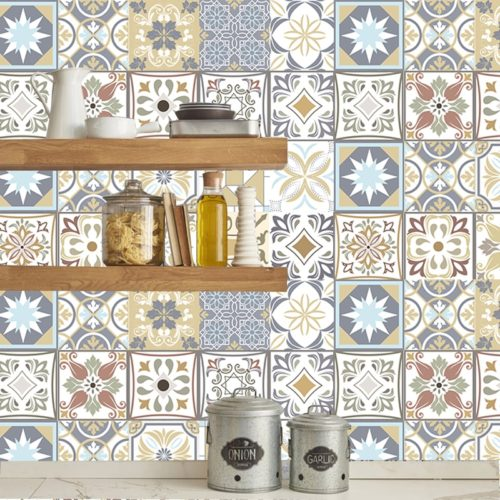 Tile Effect Wallpaper Sticker Tiles
